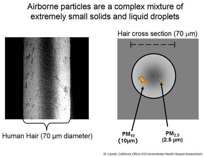 Airborne Particle Pollution Diagram