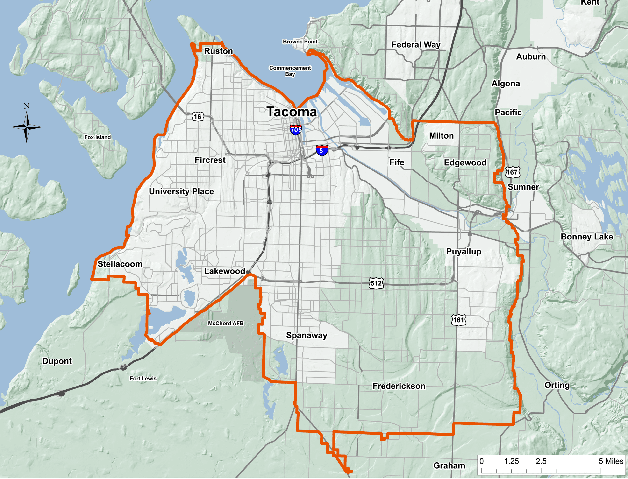 Tacoma Pierce Smoke Reduction Zone Map